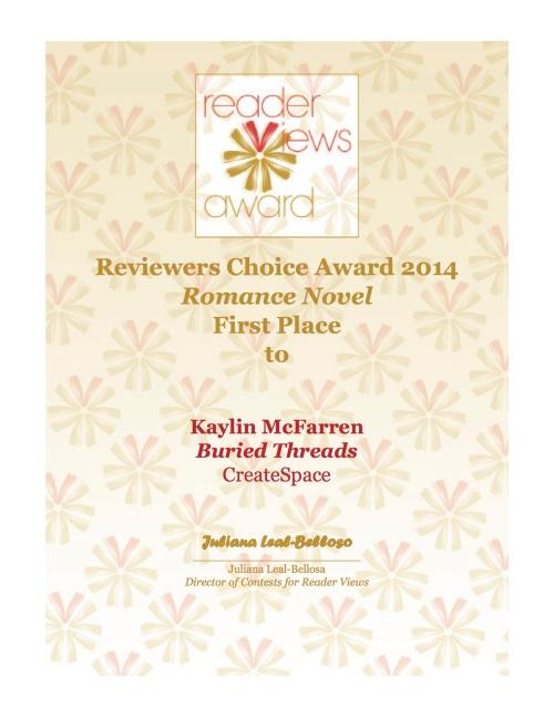 Reader Views Winning Certificate